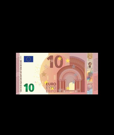 Verrechnungsscheck 10,00 Euro