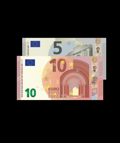 Verrechnungsscheck 15 EURO