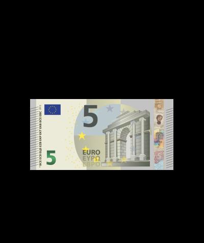 Verrechnungsscheck 5,00 Euro