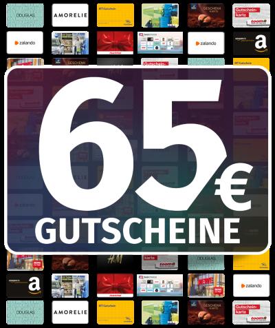 GUTSCHEINE 65 EUR